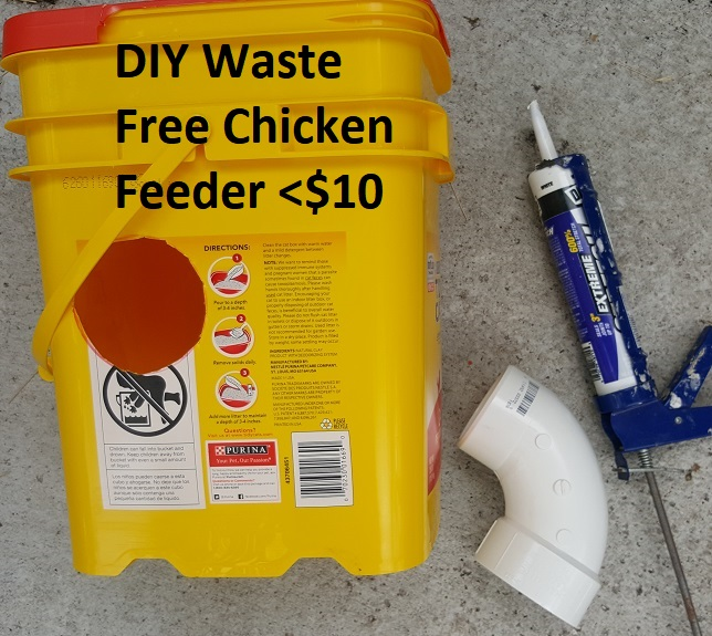 Chicken Feeder Diy No Waste Small Or Large Flock