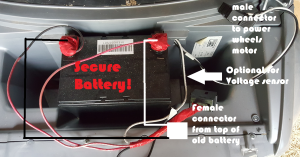 how to upgrade a power wheels battery (longer lasting) \u2013 moneyrhythm Jeep Hurricane Power Wheels Wiring-Diagram always secure the battery!